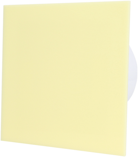 Badkamer ventilator diameter 100 mm met Trekkoord en Stekker - kunststof front beige