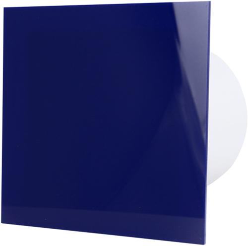 Badkamer ventilator diameter 125 mm met Trekkoord en Stekker - kunststof front blauw