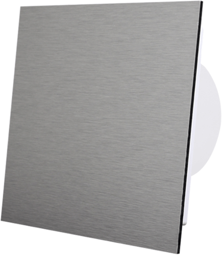 Badkamer ventilator diameter 125 mm - front geborsteld aluminium