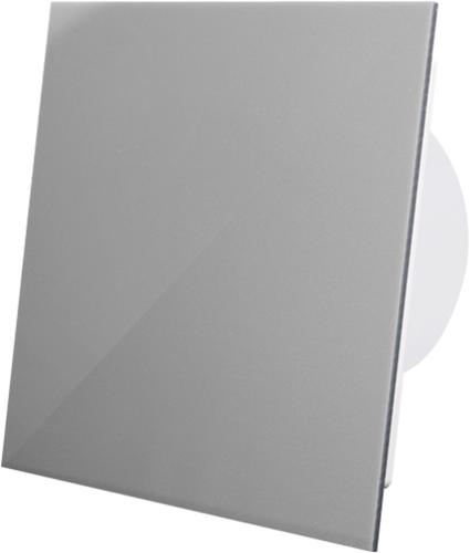 Badkamer ventilator diameter 125 mm met Trekkoord en Stekker - kunststof front grijs