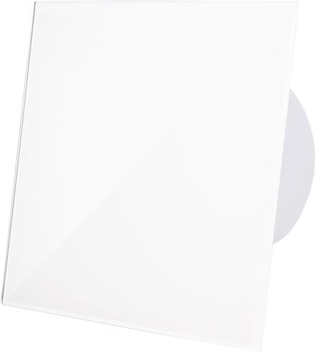 Badkamer ventilator diameter 100 mm met Trekkoord en Stekker - kunststof front glanzend wit