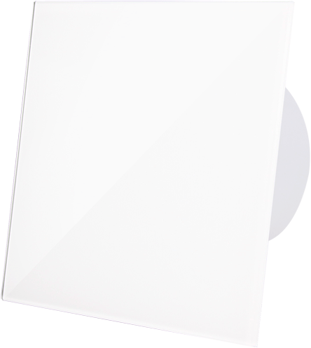 Badkamer ventilator diameter 125 mm met Timer en Vochtsensor - kunststof front glanzend wit