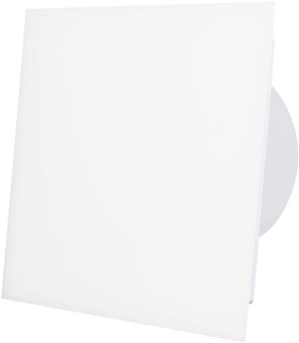Badkamer ventilator diameter 100 mm met Trekkoord en Stekker - kunststof front mat wit