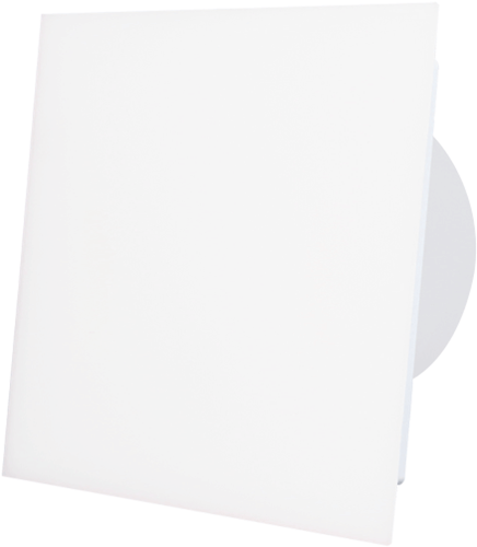 Badkamer ventilator diameter 125 mm met Trekkoord en Stekker - kunststof front mat wit