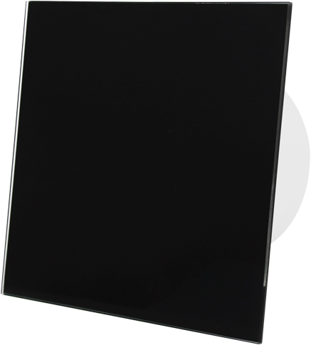 Badkamer ventilator diameter 100 mm met Timer en Vertraagde start - front zwart glas