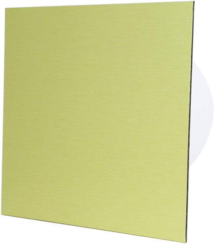 Badkamer ventilator diameter 100 mm met Trekkoord en Stekker - front goud aluminium