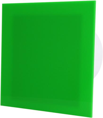 Badkamer ventilator diameter 100 mm met Trekkoord en Stekker - kunststof front groen