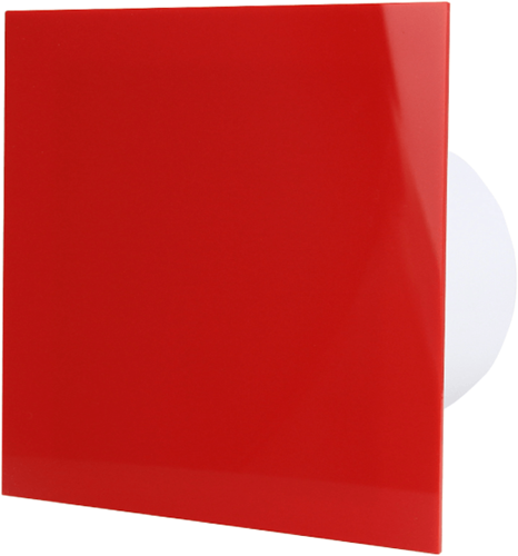 Badkamer ventilator diameter 100 mm - kunststof front rood
