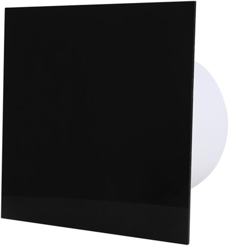 Badkamer ventilator diameter 100 mm met Timer en Vertraagde start - kunststof front zwart