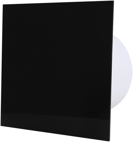 Badkamer ventilator diameter 125 mm met Timer en Vochtsensor - kunststof front zwart