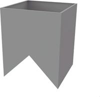 Itho Daalderop schoorsteen tussenkast nok (15-60 graden)