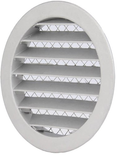 Buitenlucht ventilatieroosters aluminium Ø 125mm (MRA125)