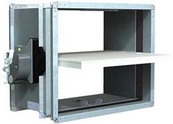 Rechthoekige brandklep 800 x 100 mm handbediend CU-LT + MFUSP