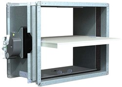 Rechthoekige brandklep 450 x 100 mm handbediend CU-LT + MFUSP