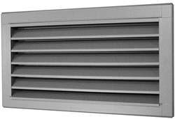 Buitenluchtrooster B=400 x H=200 rvs - inox