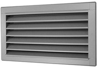 Buitenluchtrooster B=1400 x H=1600 rvs - inox