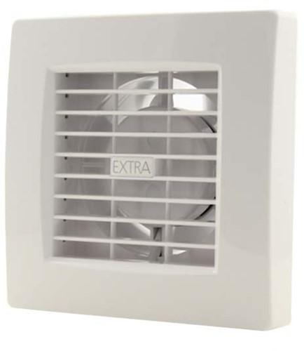 Badkamerventilator 100 mm Wit met timer en vochtsensor - luxe X100HT