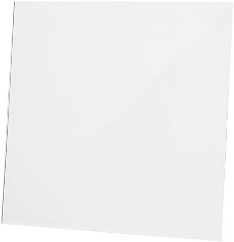 Badkamer ventilator diameter 125 mm - front glanzend wit glas