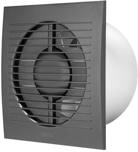 Badkamerventilator 100 mm Antraciet - standaard EE100A