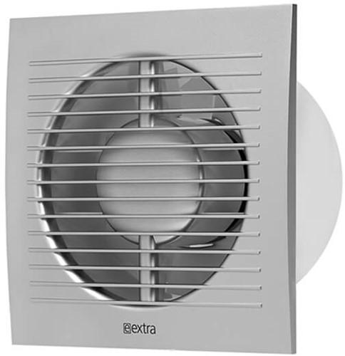 Badkamerventilator 100 mm Zilver met timer - standaard EE100TS