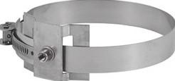 Beugel diameter  400 mm M8 I316L