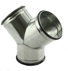 Spiro-SAFE broekstuk diameter 125 mm - 125 mm (45 graden) (sendz. verz.)