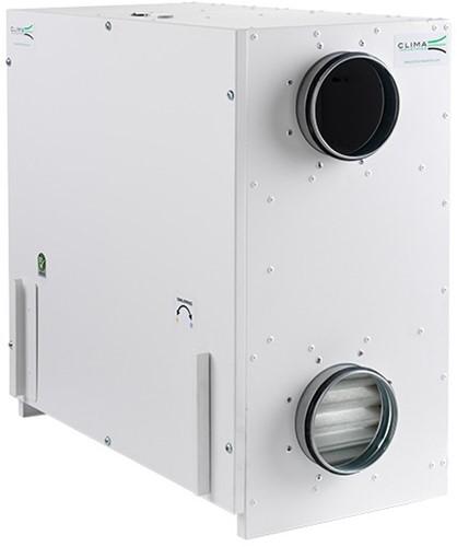WTW unit CLIMA 600A ECO PLUS (incl. bediening) 600 m3/h @ 150 Pa