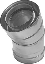 Concentrische diameter  80 - 125 mm bocht 30 gr I316L/I304 (D0,5/0,6)