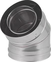 Concentrische diameter  60 - 100 mm bocht 45 gr I316L/I304 (D0,5/D0,6)