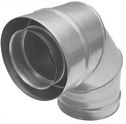 Concentrische diameter  60 - 100 mm bocht 90 gr I316L/I304 (D0,5/D0,6)