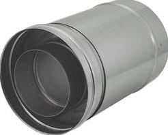 Concentrische diameter  60 - 100 mm schuifstuk I316L/I304 (D0,5/D0,5)