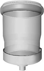 Condensafvoer PP half CLV Ø125mm