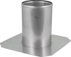 Dakdoorvoer diameter  400 mm plat dak INOX