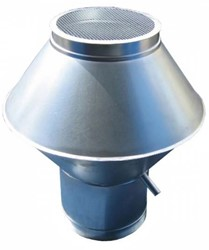 Deflectorkap rond Ø 500 mm (RVS / INOX) (dikte: 0,9 mm)