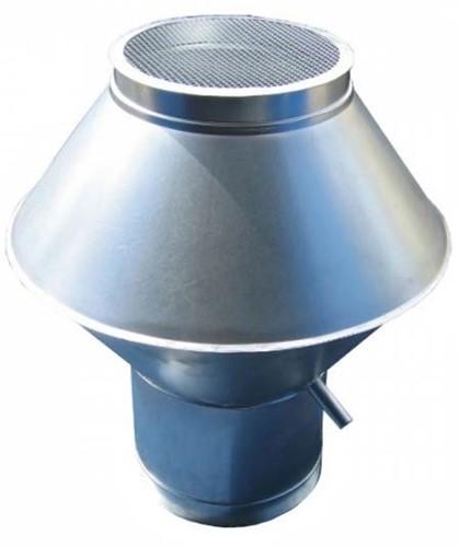 Deflectorkap rond diameter  630 mm (RVS / INOX) (dikte: 0,9 mm)