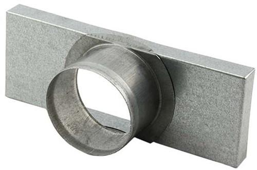 Deksel 220mm x 80mm met aansluiting Ø 80mm