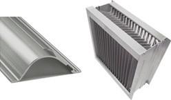 Aluminium druppelvanger met alu schoepprofiel B=500 x H=1200