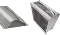 Aluminium druppelvanger met alu schoepprofiel B=300 x H=1400