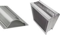 Aluminium druppelvanger met alu schoepprofiel B=200 x H=1300