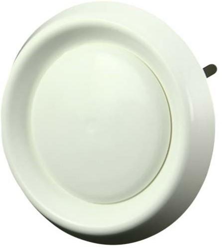 Ventilatieventiel kunststof Ø 125 mm wit (met klemveren) (DAV125)