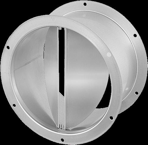 Ruck® zelfsluitende dakafsluitklep, gegalvaniseerd plaatstaal Ø 400 mm (DVK 400 10)