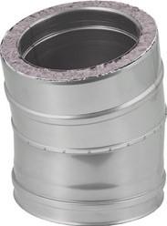 DW diameter  130 mm (130/180) bocht 15 gr I316L/I304 (D0,5/0,6)