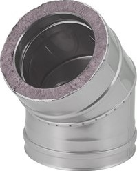 DW diameter  350 mm (350/400) bocht 45 gr I316L/I304 (D0,5/0,6)