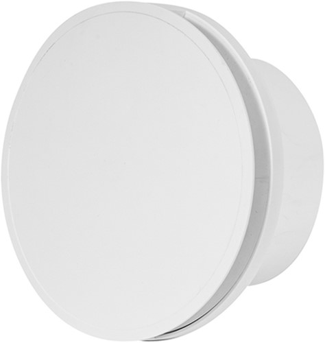 Badkamer ventilator rond 100 mm WIT - design EAT100