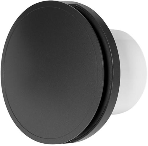Badkamer ventilator rond 100 mm ANTRACIET - design EAT100A