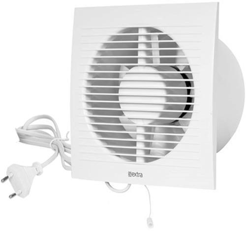 Badkamer ventilator 125 mm Wit met trekkoord en stekker - EE125WP