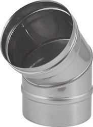 EW diameter  130 mm bocht 45 gr I316L (D0,5)