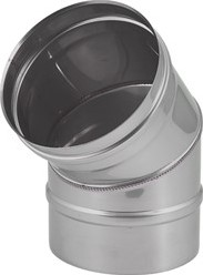 EW diameter  550 mm bocht 45 gr I316L (D0,8)