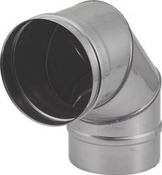 EW diameter  130 mm bocht 90 gr I316L (D0,5)