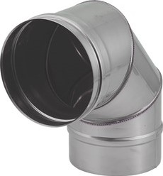 EW diameter  200 mm bocht 90 gr I316L (D0,5)